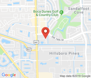 Google map image of location Sandalfoot S, Boca Raton, FL 33428, USA